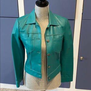Buttery soft turquoise leather jacket